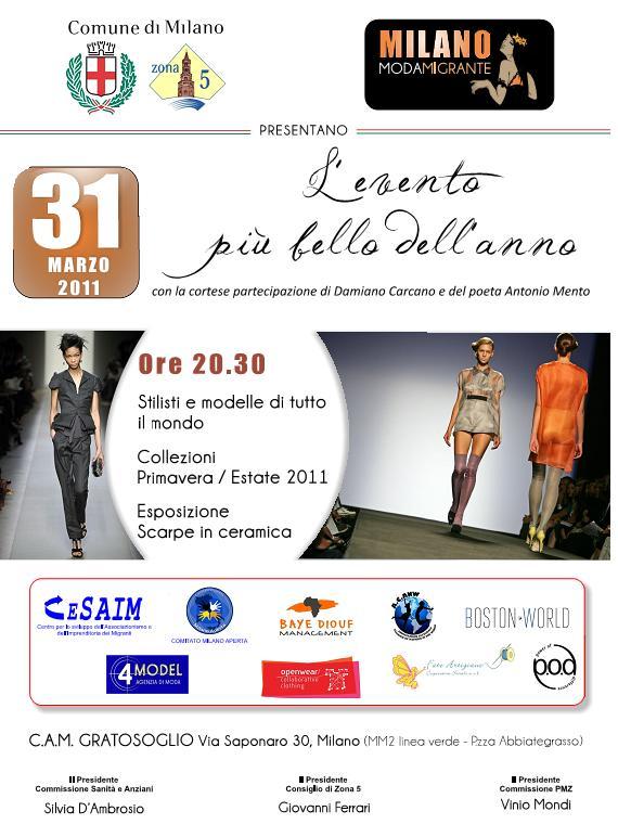 evento moda cam gratosoglio 31-03
