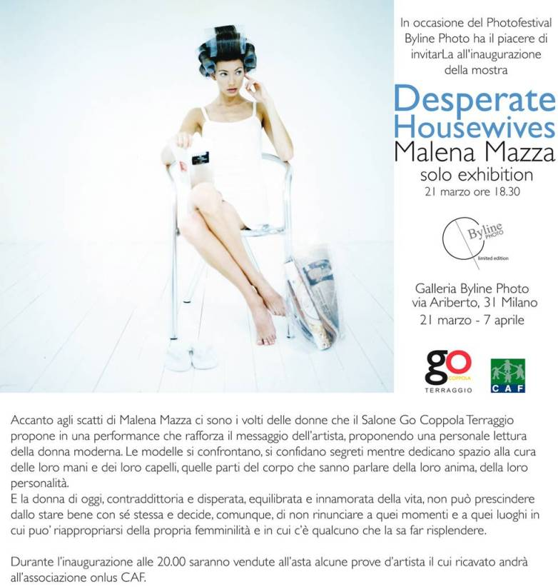 DESPERATE HOUSEWIVES - MALENA MAZZA - SOLO EXHIBITION