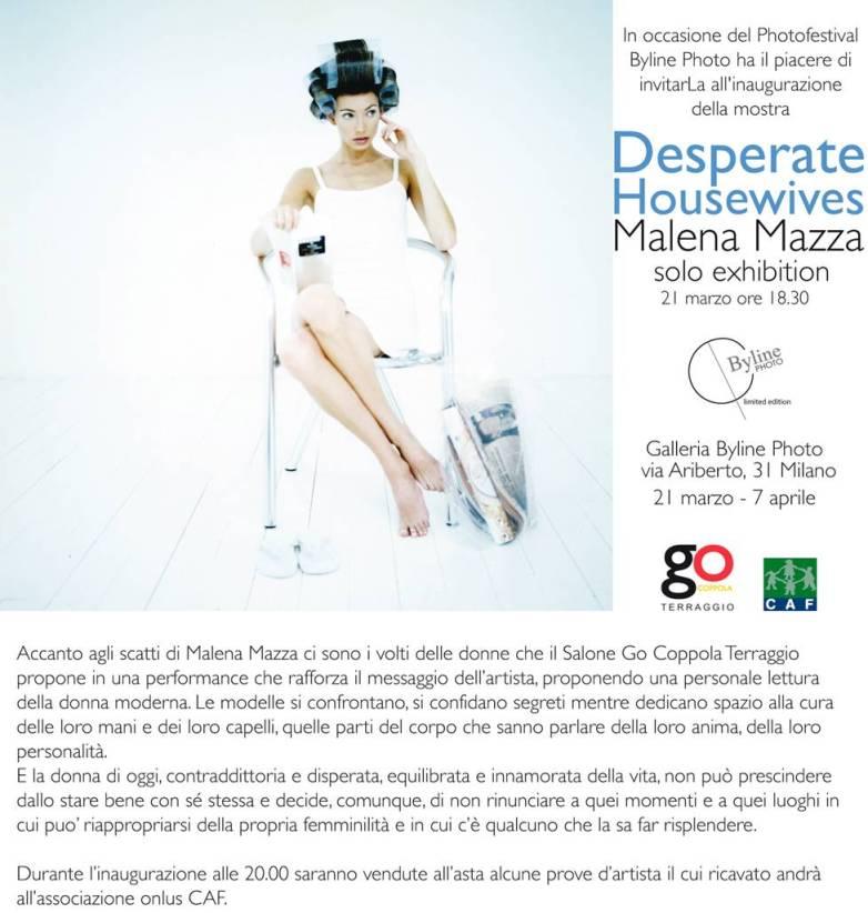 DESPERATE HOUSEWIVES - MALENA MAZZA - SOLO EXHIBITION