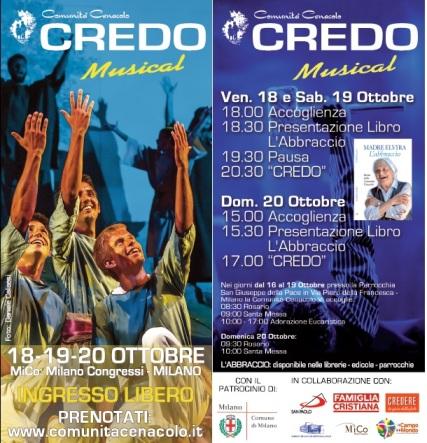 Credo Musical 18-20 ottobre Comunità Cenacolo ingresso libero
