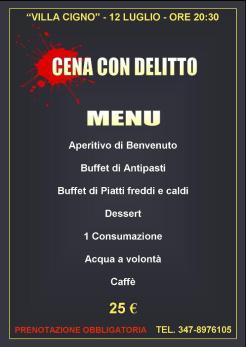 menu villa cigno 12 luglio
