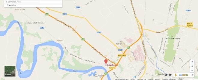 mercatino Pavia Map