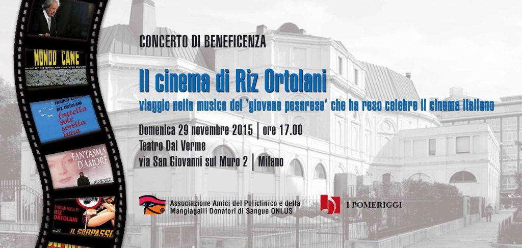concerto beneficenza il cinema di Riz Ortolani
