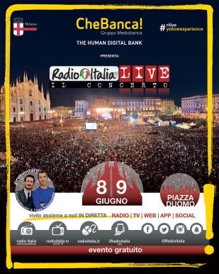 milano radio italia live 8 9 giugno il concerto in duomo