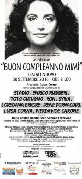 20160930 buon compleanno mimi mia martini concerto teatro nuovo milano