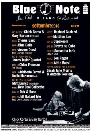 blue note milano settembre