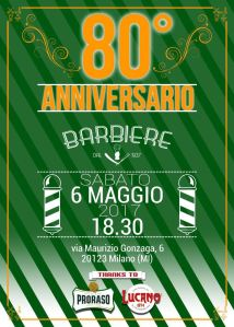 80° Anniversario Barbiere dal 1937