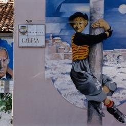 borgo san giuliano rimini murales di fellini
